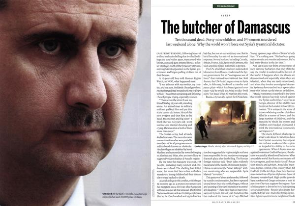 Article Preview: The butcher of Damascus, June 2012 | Maclean's