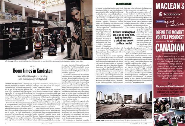 Article Preview: Boom times in Kurdistan, June 2012 | Maclean's
