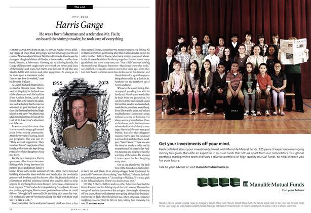 Article Preview: Harris Gange, June 2012 | Maclean's