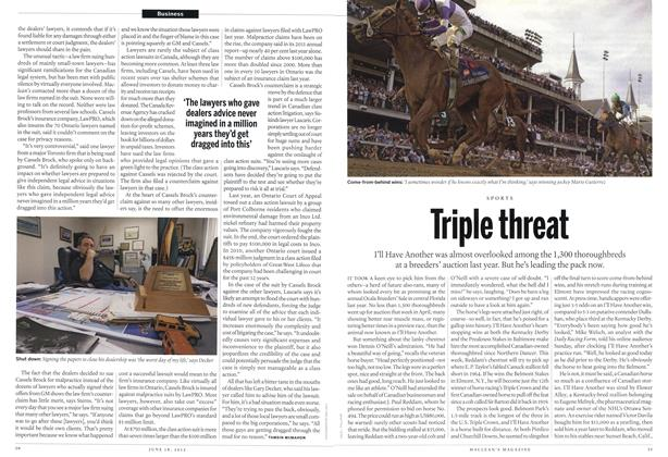 Article Preview: Triple threat, June 2012 | Maclean's