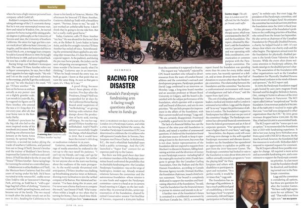 Article Preview: RACING FOR DISASTER, June 2012 | Maclean's