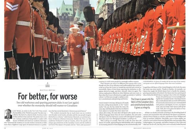 Article Preview: For better, for worse, June 2012 | Maclean's