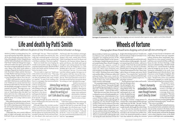 Article Preview: Life and death by Patti Smith, June 2012 | Maclean's