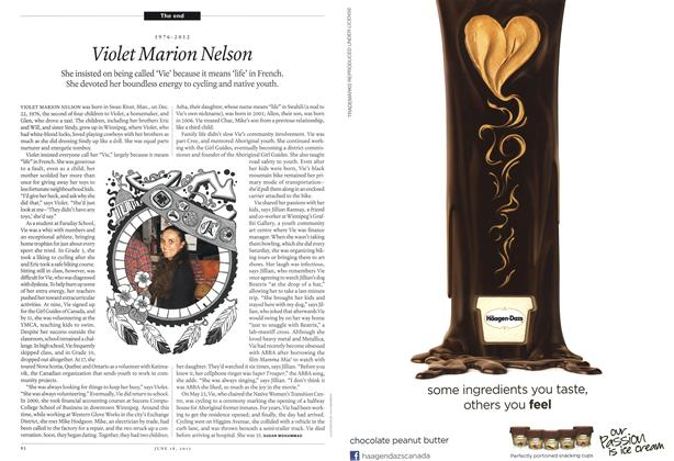 Article Preview: Violet Marion Nelson, June 2012 | Maclean's