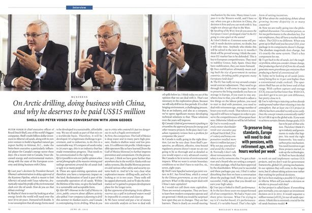 Article Preview: On Arctic drilling, doing business with China, and why he deserves to be paid US$15 million, June 2012 | Maclean's