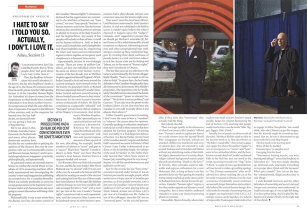 Article Preview: I HATE TO SAY I TOLD YOU SO. ACTUALLY, I DON'T. I LOVE IT., June 2012 | Maclean's
