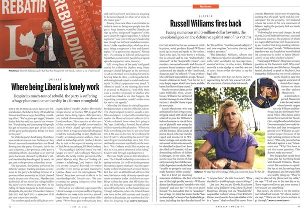 Article Preview: Russell Williams fires back, June 2012 | Maclean's
