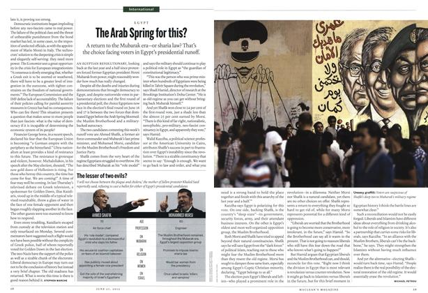 Article Preview: The Arab Spring for this?, June 2012 | Maclean's