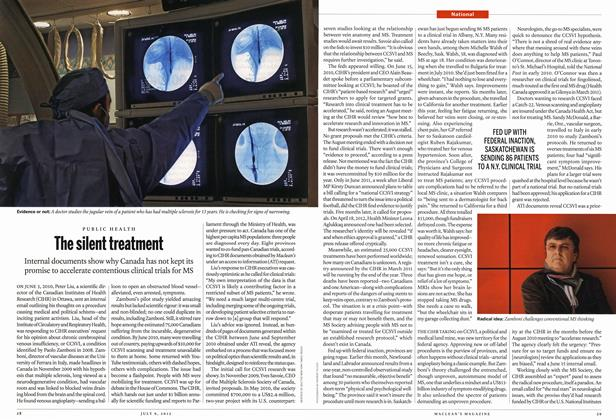 Article Preview: The silent treatment, July 2012 | Maclean's