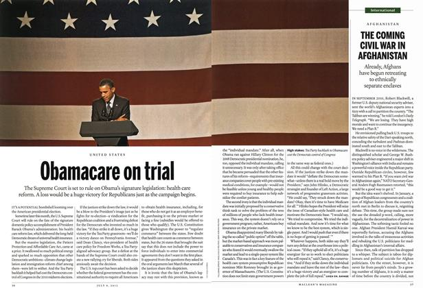 Article Preview: Obamacare on trial, July 2012 | Maclean's