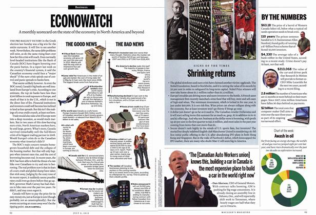 Article Preview: BYTHE NUMBERS, July 2012 | Maclean's