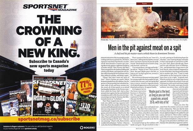 Article Preview: Men in the pit against meat on a spit, July 2012 | Maclean's