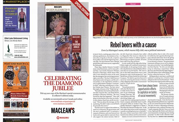 Article Preview: Rebel beers with a cause, July 2012 | Maclean's