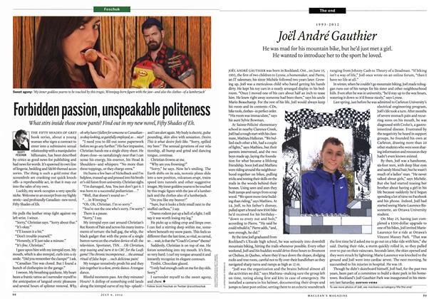 Article Preview: 1993-2012 Joël André Gauthier, July 2012 | Maclean's
