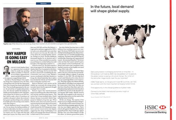 Article Preview: WHY HARPER IS GOING EASY ON MULCAIR, July 2012 | Maclean's