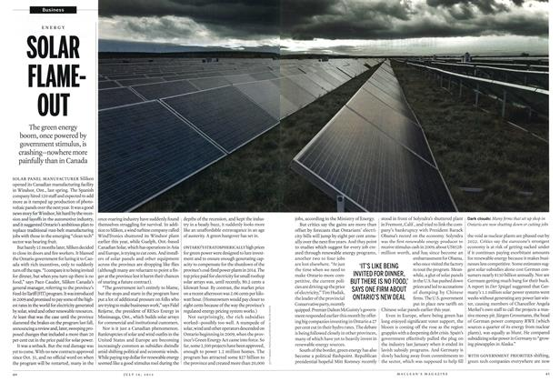 Article Preview: SOLAR FLAME-OUT, July 2012 | Maclean's
