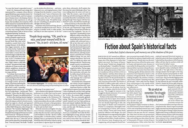 Article Preview: Fiction about Spain's historical facts, July 2012 | Maclean's
