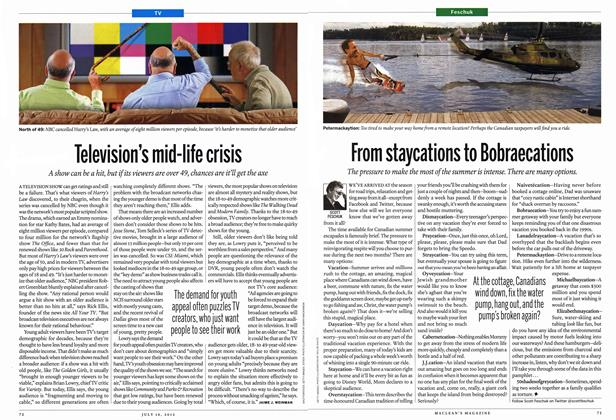 Article Preview: Television's mid-life crisis, July 2012 | Maclean's