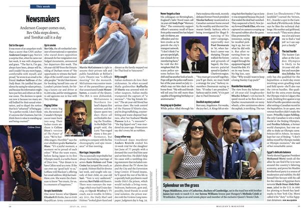 Article Preview: Newsmakers, July 2012 | Maclean's