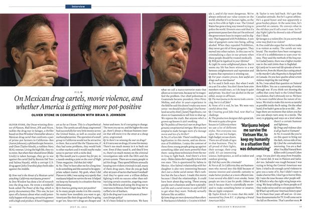 Article Preview: On Mexican drug cartels, movie violence, and whether America is getting more pot-positive, July 2012 | Maclean's