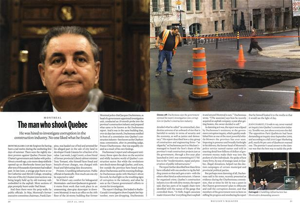 Article Preview: The man who shook Quebec, July 2012 | Maclean's