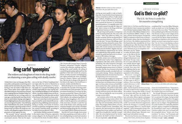 Article Preview: Drug cartel 'queenpins', July 2012 | Maclean's