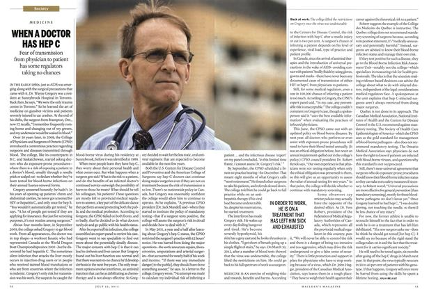 Article Preview: WHEN A DOCTOR HAS HEP C, July 2012 | Maclean's