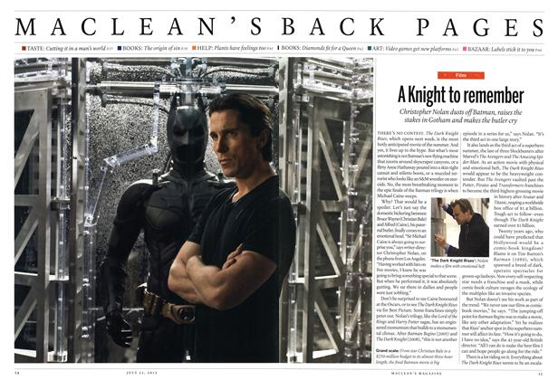 Article Preview: A Knight to remember, July 2012 | Maclean's