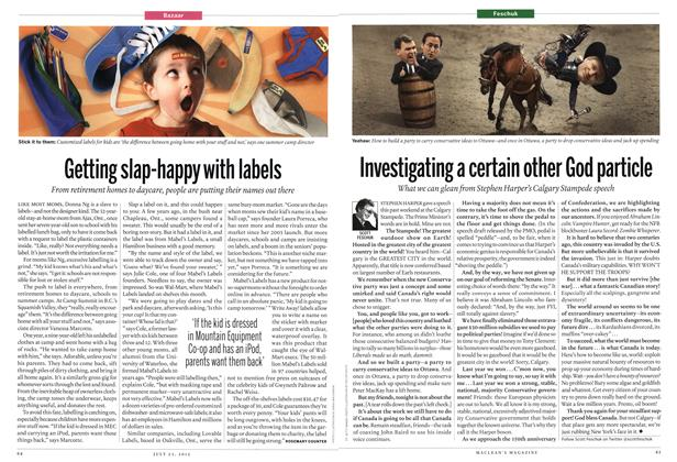 Article Preview: Getting slap-happy with labels, July 2012 | Maclean's