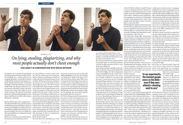 Article Preview: On lying, stealing, plagiarizing, and why most people actually don't cheat enough, July 2012 | Maclean's