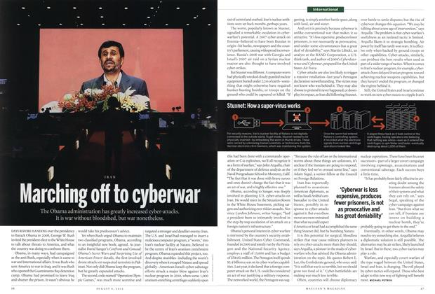 Article Preview: Marching off to cyberwar, August 2012 | Maclean's