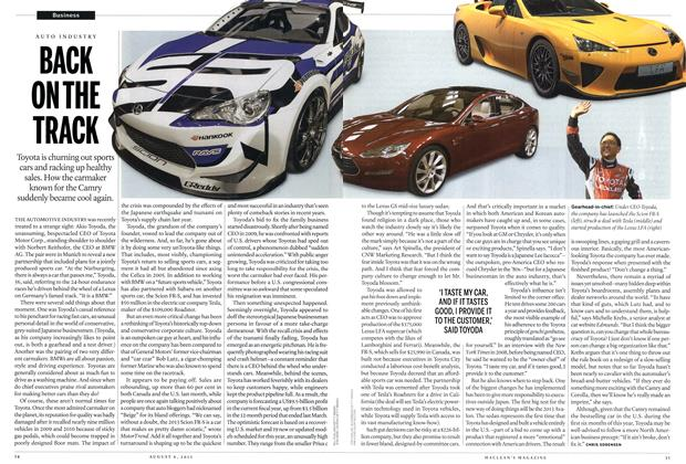 Article Preview: BACK ON THE TRACK, August 2012 | Maclean's