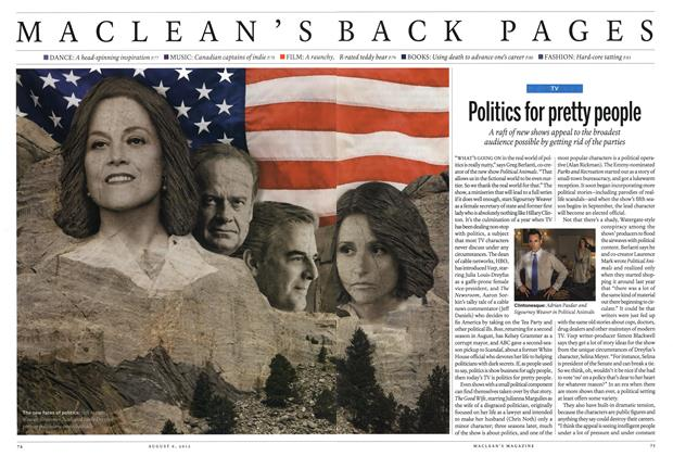 Article Preview: Politics for pretty people, August 2012 | Maclean's