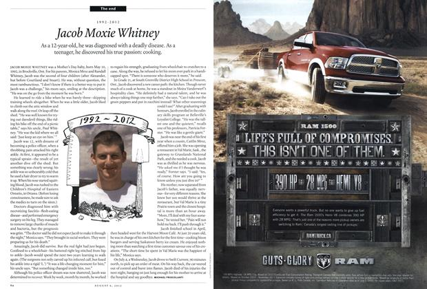 Article Preview: 1992-2012 Jacob Moxie Whitney, August 2012 | Maclean's