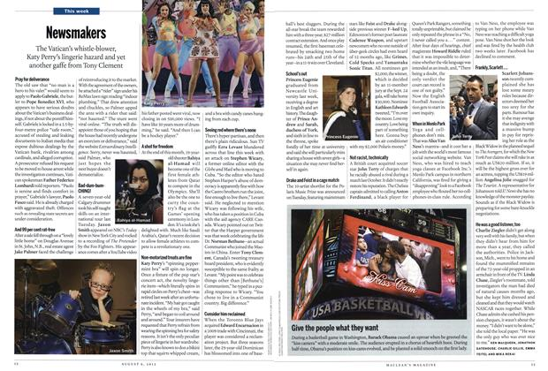 Article Preview: Newsmakers, August 2012 | Maclean's