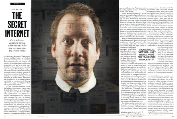Article Preview: THE SECRET INTERNET, AUGUST 13,2012 2012 | Maclean's