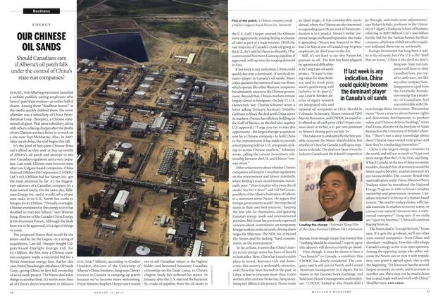 Article Preview: OUR CHINESE OIL SANDS, AUGUST 13,2012 2012 | Maclean's