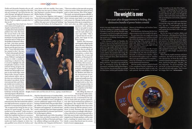 Article Preview: The weight is over, AUGUST 13,2012 2012 | Maclean's