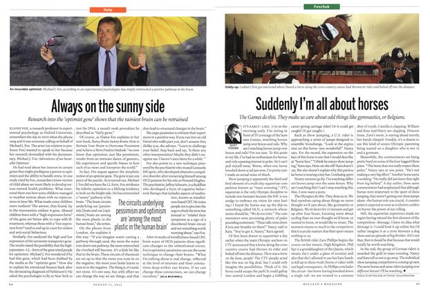 Article Preview: Suddenly I'm all about horses, AUGUST 13,2012 2012 | Maclean's