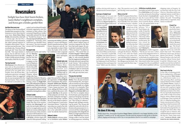 Article Preview: Newsmakers, AUGUST 13,2012 2012 | Maclean's