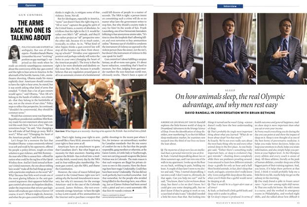 Article Preview: On how animals sleep the real Olympic advantage, and why men rest easy, AUGUST 13,2012 2012 | Maclean's