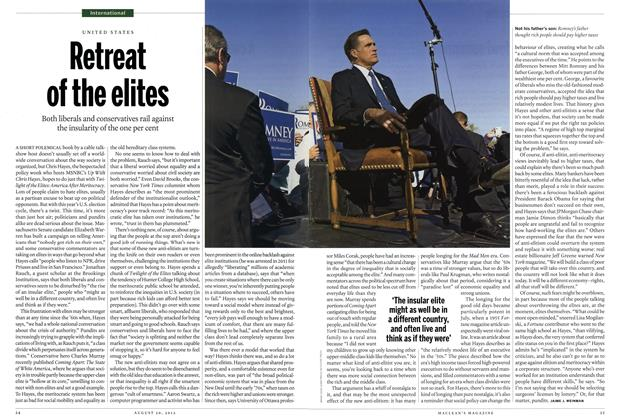 Article Preview: Retreat of the elites, August 2012 | Maclean's