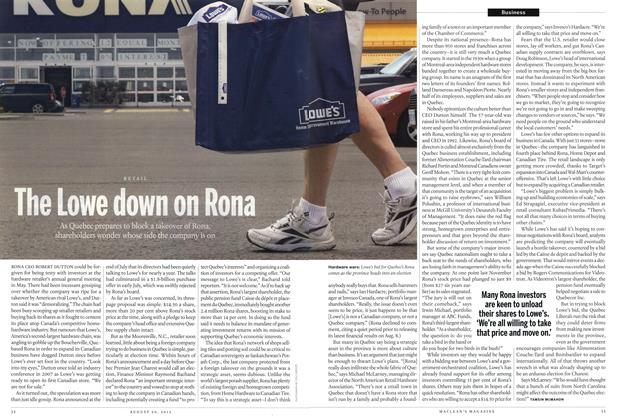 Article Preview: The Lowe down on Rona, August 2012 | Maclean's