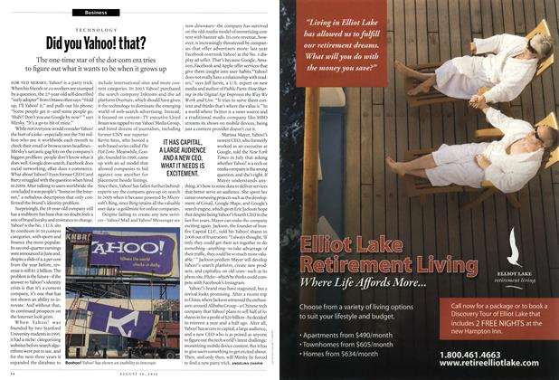 Article Preview: Did you Yahoo! that?, August 2012 | Maclean's