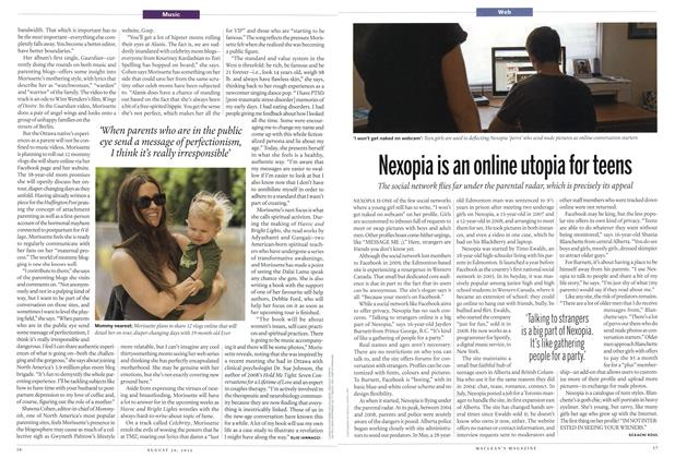 Article Preview: Nexopia is an online utopia for teens, August 2012 | Maclean's