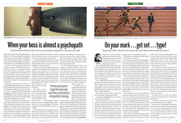 Article Preview: When your boss is almost a psychopath, August 2012 | Maclean's