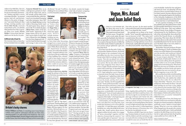 Article Preview: Vogue, Mrs. Assad and Joan Juliet Buck, August 2012 | Maclean's