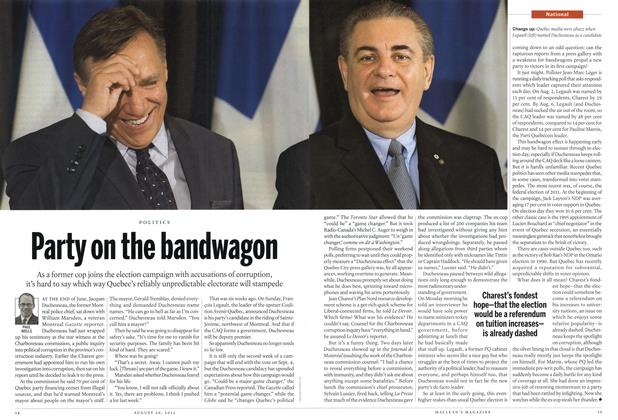 Article Preview: Party on the bandwagon, August 2012 | Maclean's