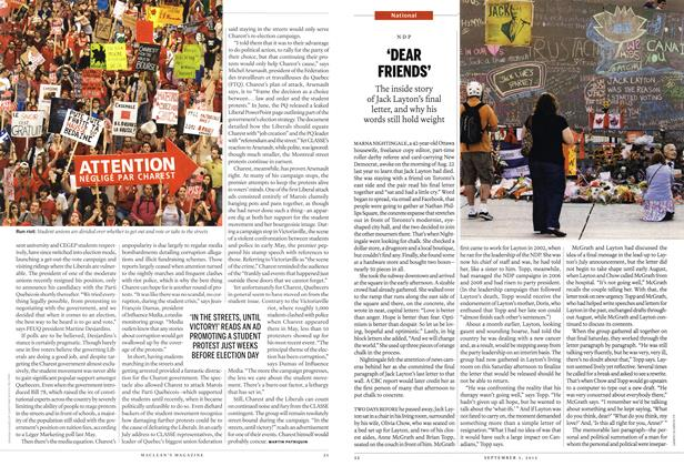 Article Preview: 'DEAR FRIENDS', SEPT. 3, 2012 2012 | Maclean's