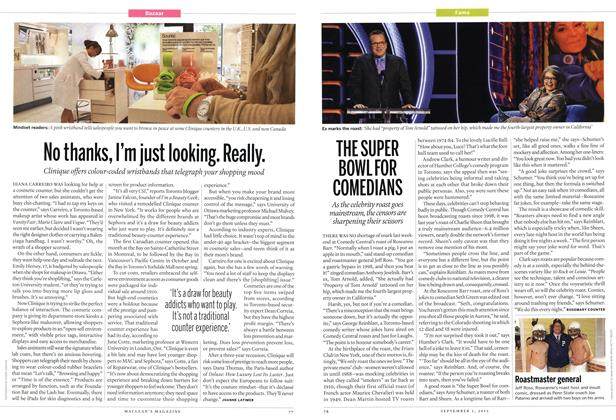 Article Preview: THE SUPER BOWL FOR COMEDIANS, SEPT. 3, 2012 2012 | Maclean's
